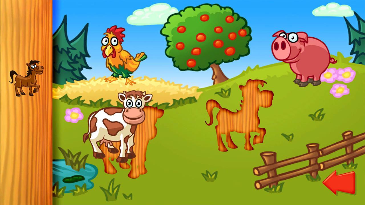 动物拼图(Animal Puzzle: Preschool Learning Game for Kids and Toddlers)插图
