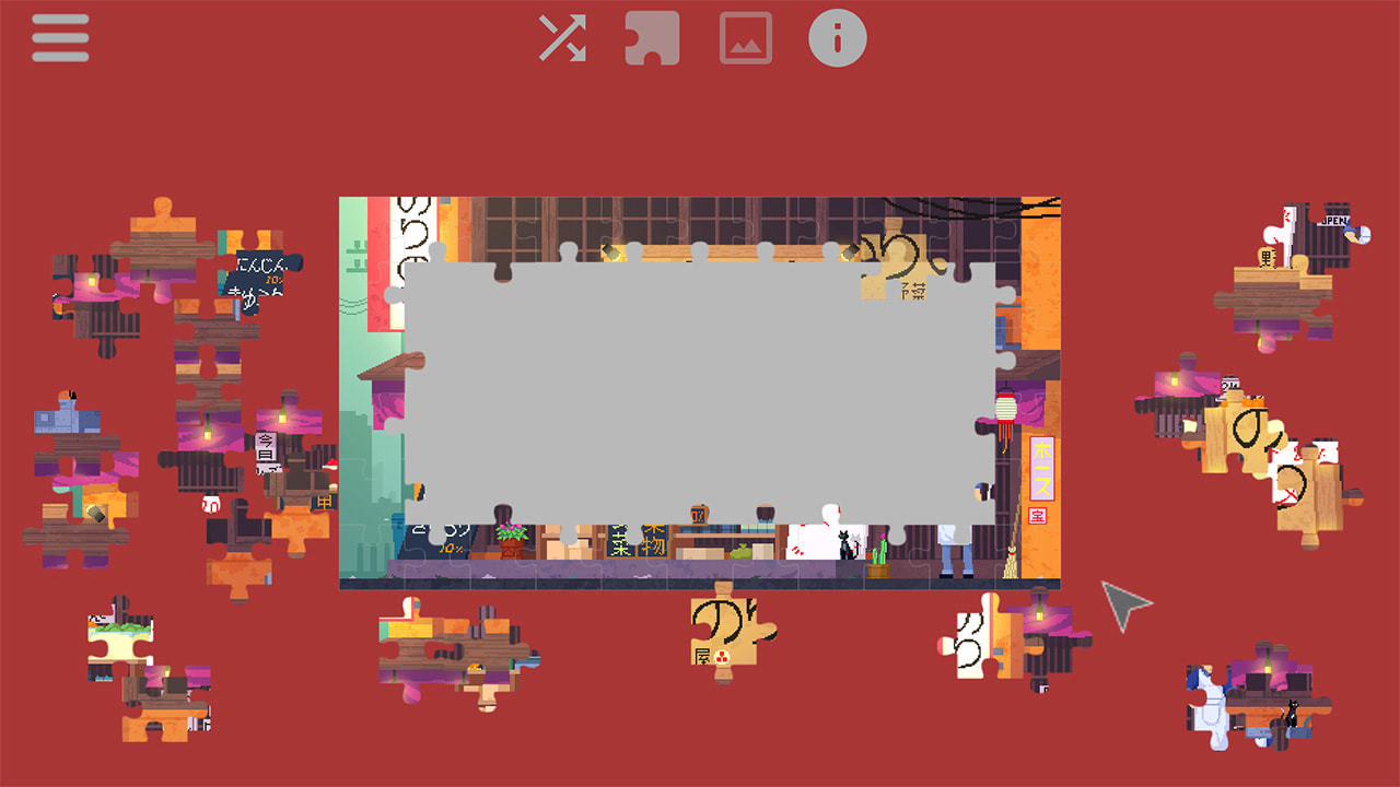 日本的日常生活-动画拼图(Daylife in Japan – Pixel Art Jigsaw Puzzle)插图