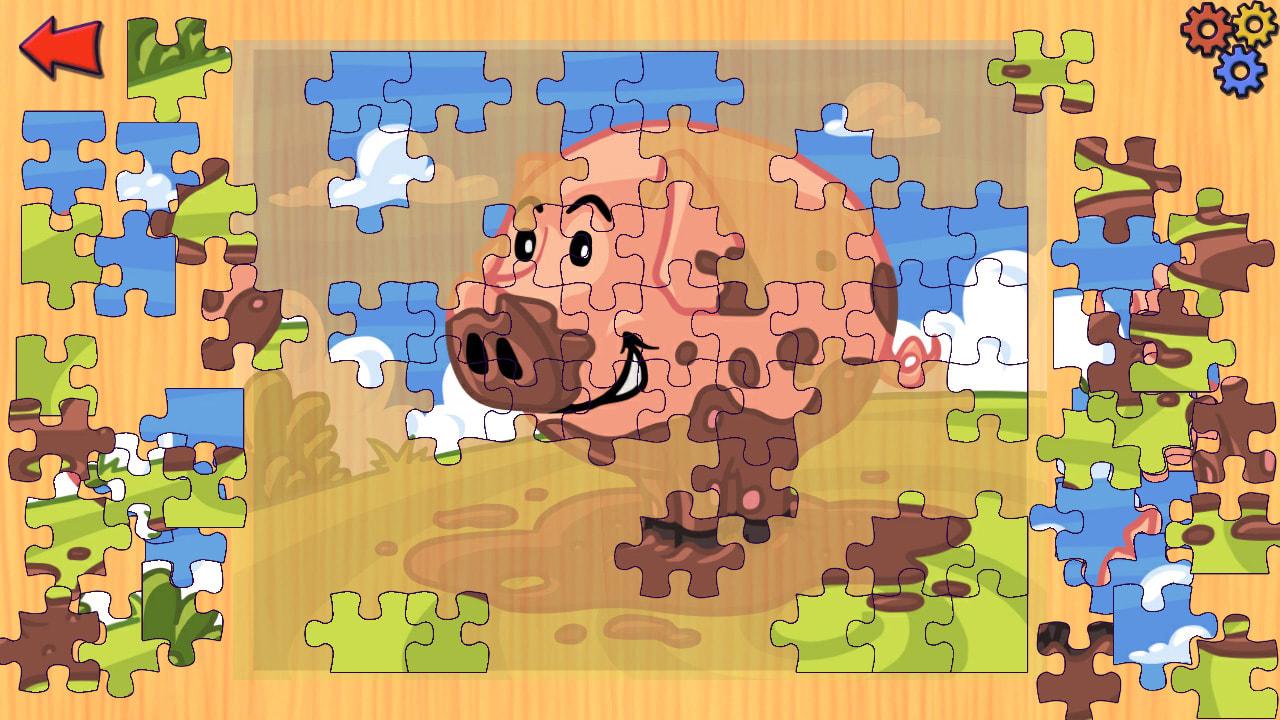 农场动物拼图(Funny Farm Animal Jigsaw Puzzle Game for Kids and Toddlers)插图1