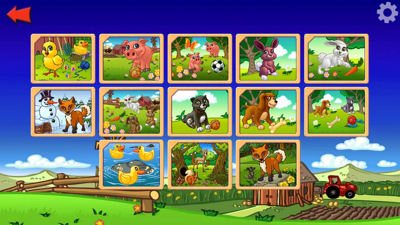 农场动物拼图(Funny Farm Animal Jigsaw Puzzle Game for Kids and Toddlers)插图4