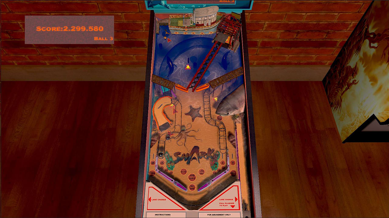 鲨鱼弹珠台(Shark Pinball)插图3