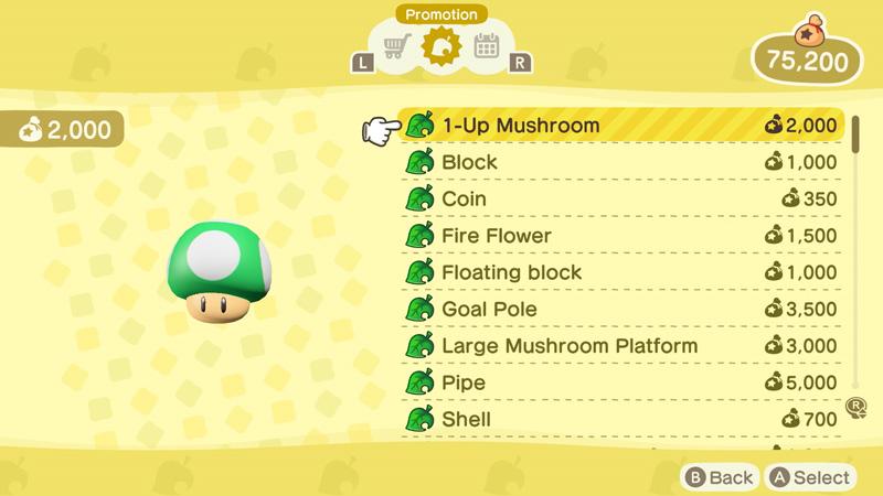 Super Mario Bros Themed Furniture, Super Mario Furniture Animal Crossing